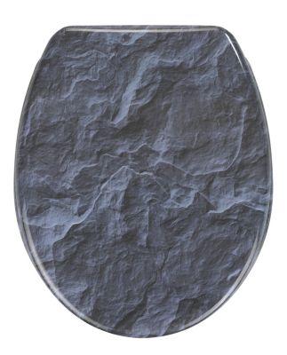 Wenko WC-Sitz Slate Rock mit Absenkautomatik