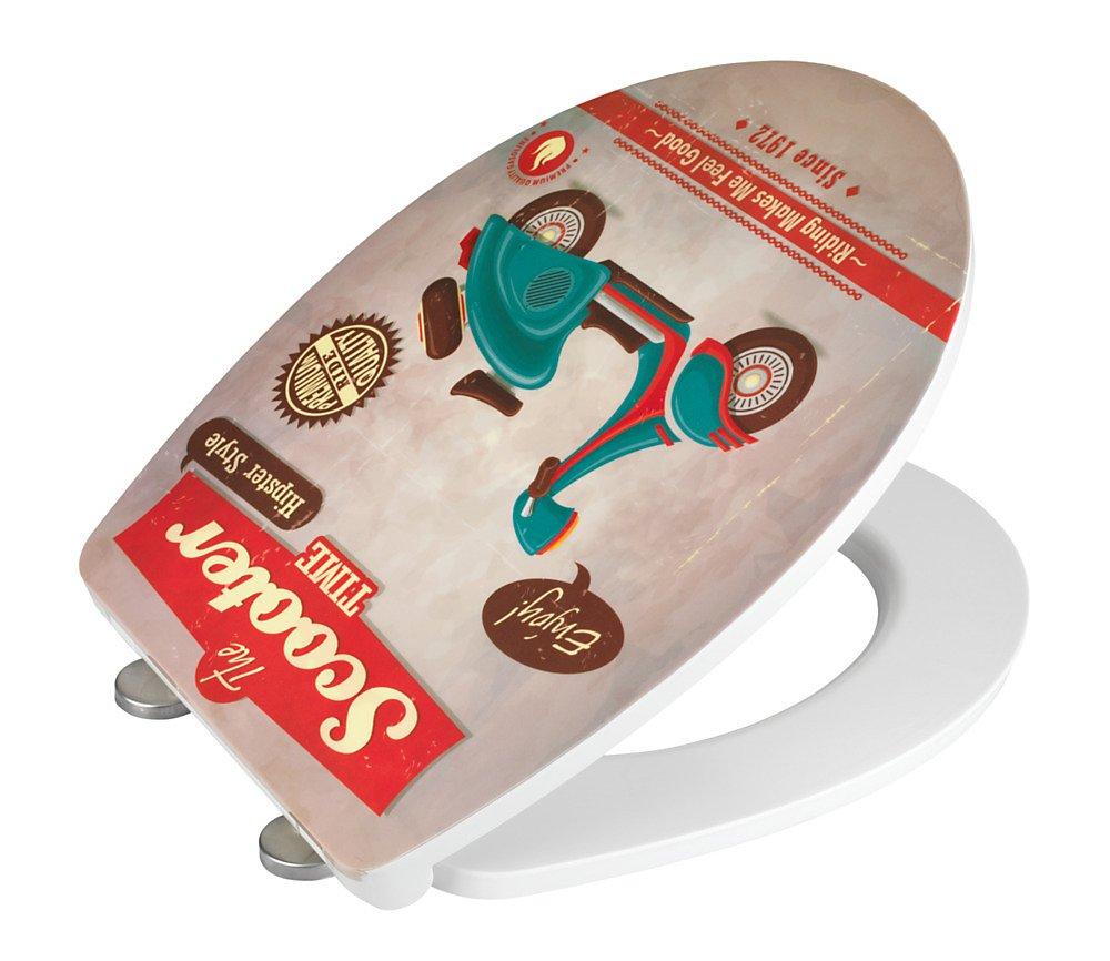 wenko wc sitz vintage scooter duroplast absenkautomatik