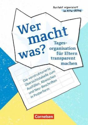 Wer macht was? - Tagesorganisation für Eltern transparent machen, Poster