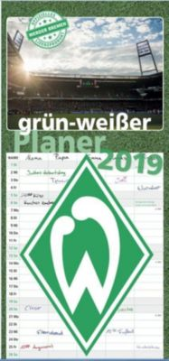 Werder Bremen - grün-weißer Planer 2019, Carl Schünemann Verlag