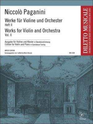 Werke für Violine und Orchester, Violine u. Klavier (Skordaturstimmung) - Niccolò Paganini  