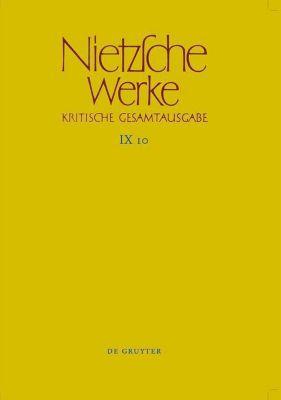 Werke, Kritische Gesamtausgabe: Bd.10 Arbeitshefte W II 8 und W II 9