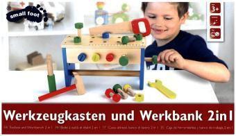 Werkzeugkasten und Werkbank 2 in 1, small foot