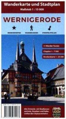 Wernigerode, Wanderkarte und Stadtplan