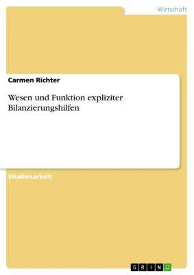 Wesen und Funktion expliziter Bilanzierungshilfen, Carmen Richter