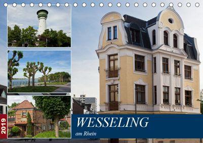 Wesseling am Rhein (Tischkalender 2019 DIN A5 quer), U. Boettcher