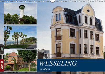 Wesseling am Rhein (Wandkalender 2019 DIN A3 quer), U. Boettcher