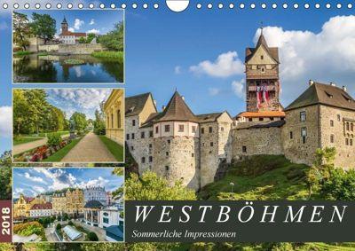 WESTBÖHMEN Sommerliche Impressionen (Wandkalender 2018 DIN A4 quer), Melanie Viola