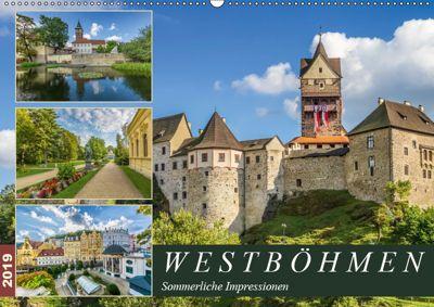WESTBÖHMEN Sommerliche Impressionen (Wandkalender 2019 DIN A2 quer), Melanie Viola