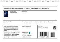 Westböhmisches Bäderdreieck - Karlsbad, Marienbad und Franzensbad (Tischkalender 2019 DIN A5 quer) - Produktdetailbild 13