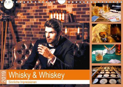 Whisky und Whiskey 2019. Sinnliche Impressionen (Wandkalender 2019 DIN A4 quer), Steffani Lehmann