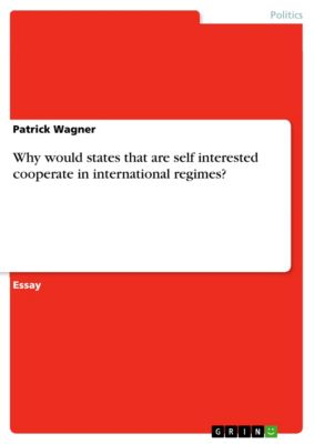 Why would states that are self interested cooperate in international regimes?, Patrick Wagner