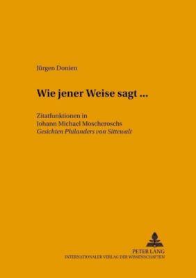 «Wie jener Weise sagt...», Jürgen Donien