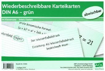 Wiederbeschreibbare Karteikarten DIN A6 - grün
