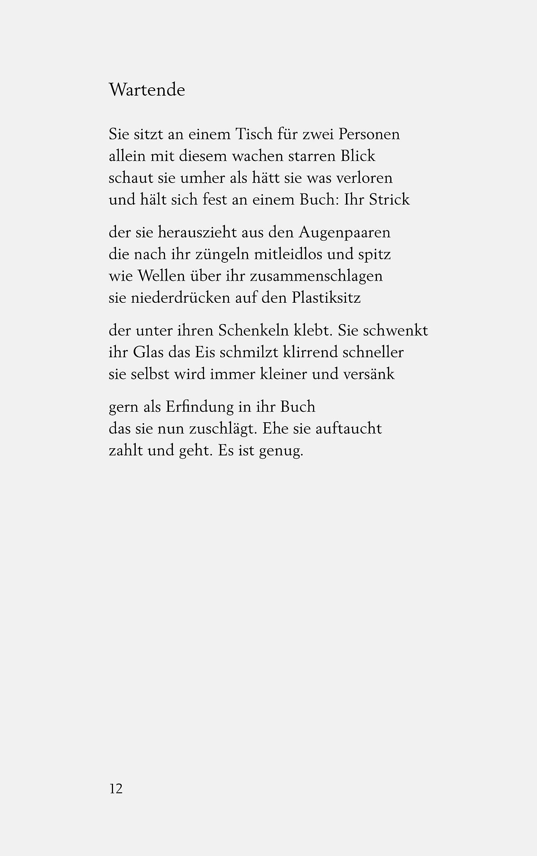 Ulla hahn bekanntschaft gedicht