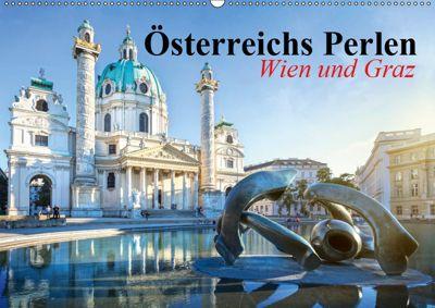 Wien und Graz. Österreichs Perlen (Wandkalender 2019 DIN A2 quer), Elisabeth Stanzer