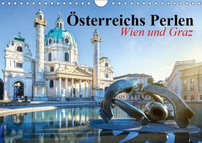 Wien und Graz. Österreichs Perlen (Wandkalender 2019 DIN A4 quer), Elisabeth Stanzer