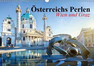 Wien und Graz. Österreichs Perlen (Wandkalender 2019 DIN A3 quer), Elisabeth Stanzer