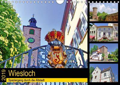 Wiesloch - Spaziergang durch die Altstadt (Wandkalender 2019 DIN A4 quer), Claus Liepke