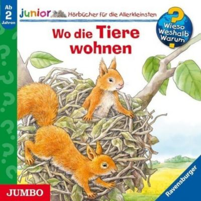 Wieso? Weshalb? Warum? Junior Band 46: Wo die Tiere wohnen (Audio-CD), Wieso? Weshalb? Warum? Junior, Elskis, Sprick