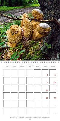 Wild Teddy bears (Wall Calendar 2019 300 × 300 mm Square) - Produktdetailbild 2