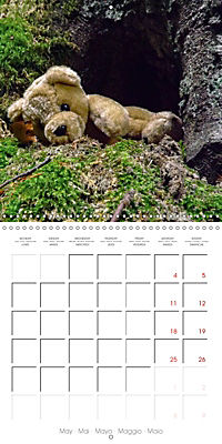 Wild Teddy bears (Wall Calendar 2019 300 × 300 mm Square) - Produktdetailbild 5