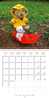 Wild Teddy bears (Wall Calendar 2019 300 × 300 mm Square) - Produktdetailbild 4