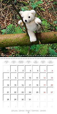 Wild Teddy bears (Wall Calendar 2019 300 × 300 mm Square) - Produktdetailbild 1