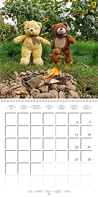 Wild Teddy bears (Wall Calendar 2019 300 × 300 mm Square) - Produktdetailbild 7