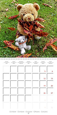 Wild Teddy bears (Wall Calendar 2019 300 × 300 mm Square) - Produktdetailbild 10