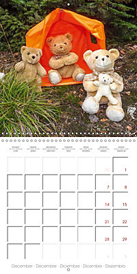 Wild Teddy bears (Wall Calendar 2019 300 × 300 mm Square) - Produktdetailbild 12