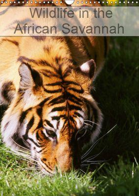 Wildlife in the African Savannah (Wall Calendar 2019 DIN A3 Portrait), Dominique Leroy