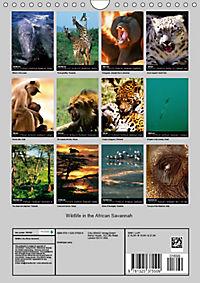 Wildlife in the African Savannah (Wall Calendar 2019 DIN A4 Portrait) - Produktdetailbild 13