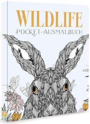 Wildlife - Pocket-Ausmalbuch