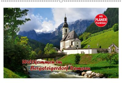 Willkommen im Bergsteigerdorf Ramsau (Wandkalender 2019 DIN A2 quer), Dieter-M. Wilczek