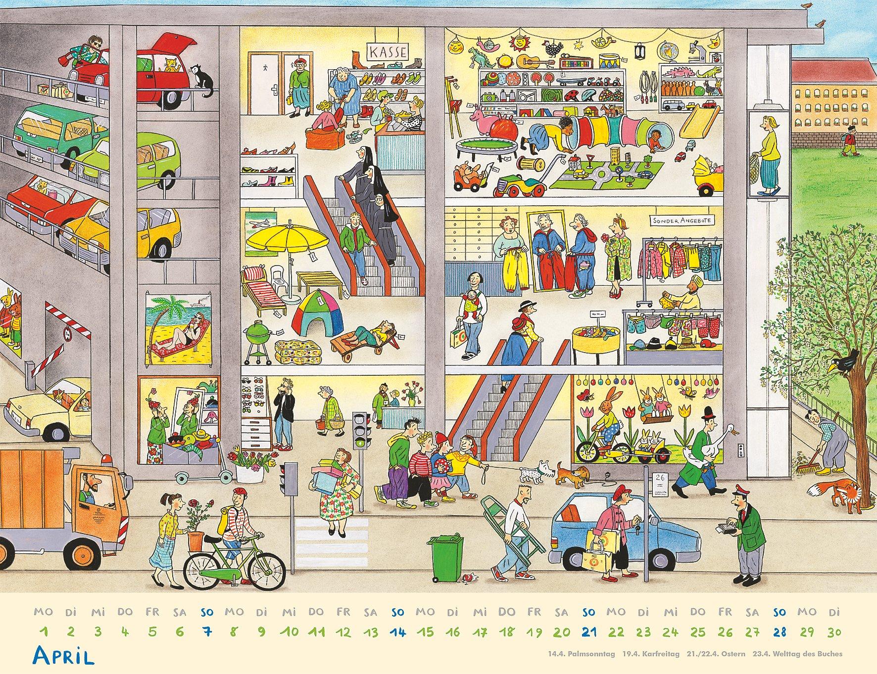 wimmelkalender 2019 kalender g nstig bei. Black Bedroom Furniture Sets. Home Design Ideas