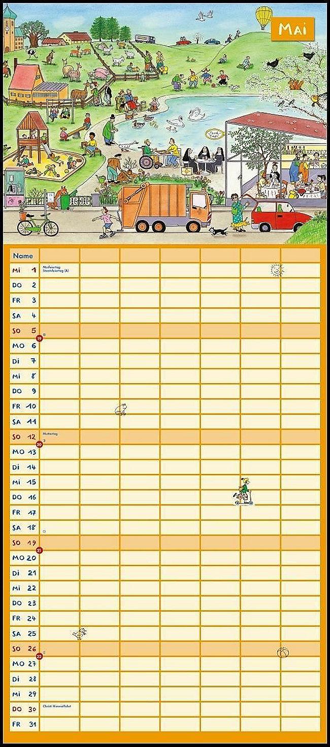 wimmlingen mega familienkalender 2019 kalender bestellen. Black Bedroom Furniture Sets. Home Design Ideas