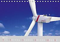 Windkraftanlagen aus der Luft fotografiert (Tischkalender 2019 DIN A5 quer) - Produktdetailbild 5