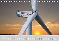 Windkraftanlagen aus der Luft fotografiert (Tischkalender 2019 DIN A5 quer) - Produktdetailbild 4