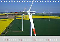 Windkraftanlagen aus der Luft fotografiert (Tischkalender 2019 DIN A5 quer) - Produktdetailbild 2