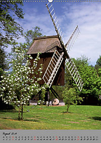 Windmühlen in Norddeutschland (Wandkalender 2019 DIN A2 hoch) - Produktdetailbild 8