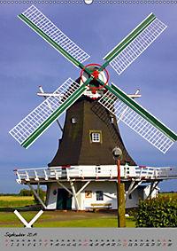Windmühlen in Norddeutschland (Wandkalender 2019 DIN A2 hoch) - Produktdetailbild 9