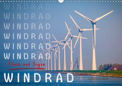 Windrad - Fluch und Segen (Wandkalender 2019 DIN A3 quer), Peter Roder