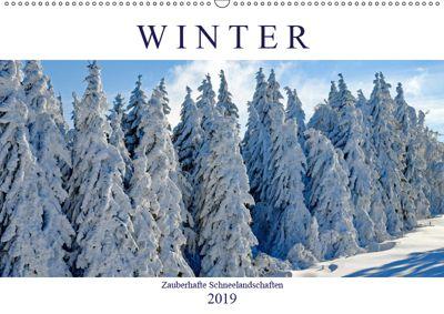 Winter. Zauberhafte Schneelandschaften (Wandkalender 2019 DIN A2 quer), Rose Hurley