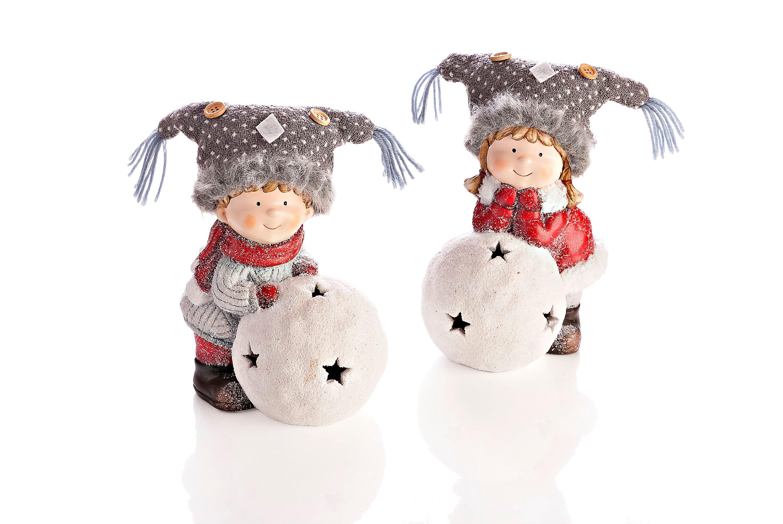 Weihnachtsdeko Schneekugel.Winterkinder Aura Tumi Mit Led Schneekugel 2er Set Weltbild De