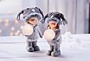 Winterkinder Finn und Annika, 2er Set