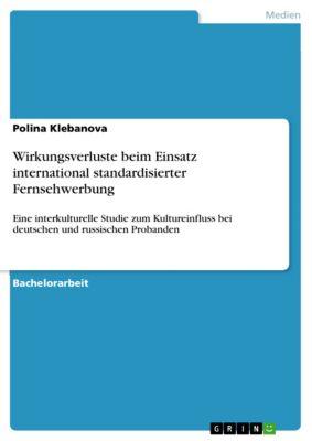 Wirkungsverluste beim Einsatz international standardisierter Fernsehwerbung, Polina Klebanova