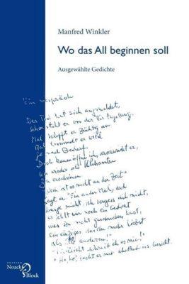 Wo das All beginnen soll - Manfred Winkler  