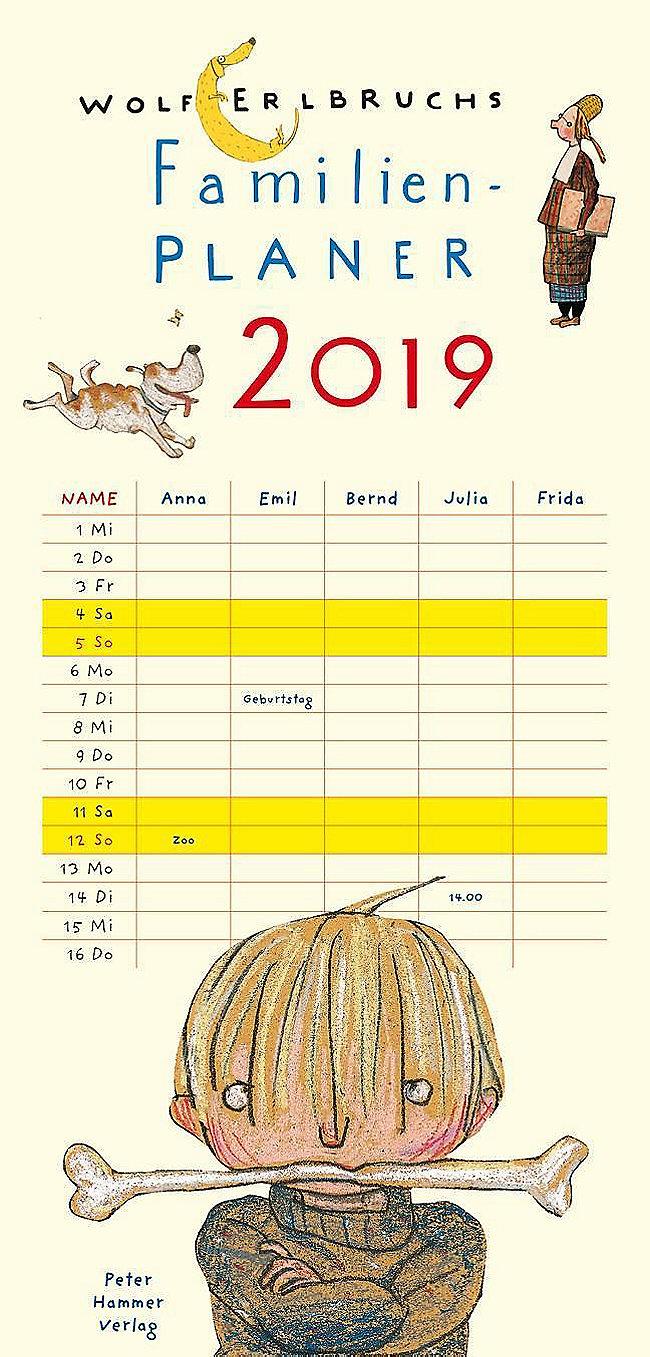 Wolf Erlbruchs Familienplaner 2019 Kalender Bei Weltbild De