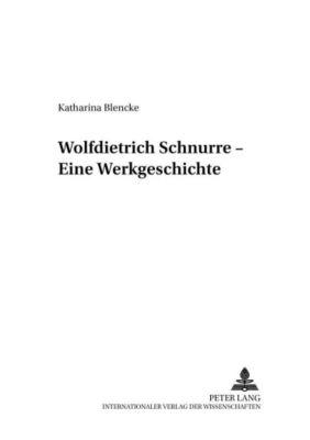 Wolfdietrich Schnurre, Katharina Blencke